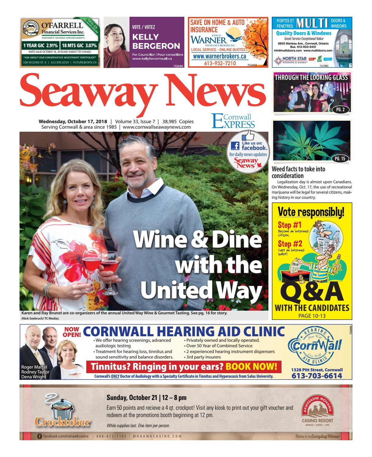 Cornwall Seaway News October 17, 2018 Edition by Cornwall Seaway News -  issuu
