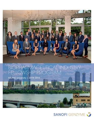 MCPHS Biopharmaceutical Industry Fellowship Program — Sanofi