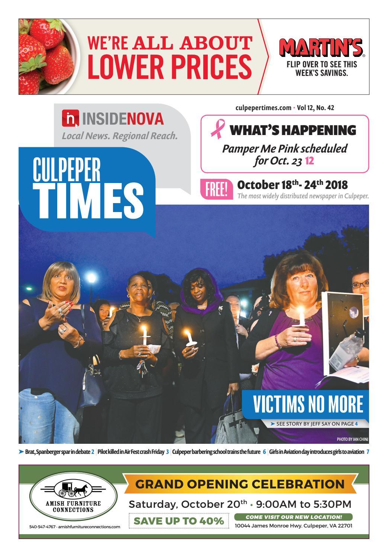 Culpeper Times - Oct  18, 2018 by InsideNoVa - issuu