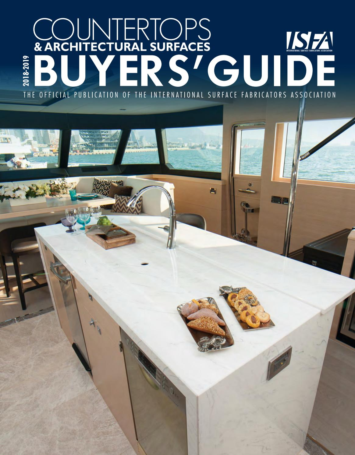 Isfa S Countertops Architectural Surfaces 2018 2019 Buyers Guide By Isfa Issuu