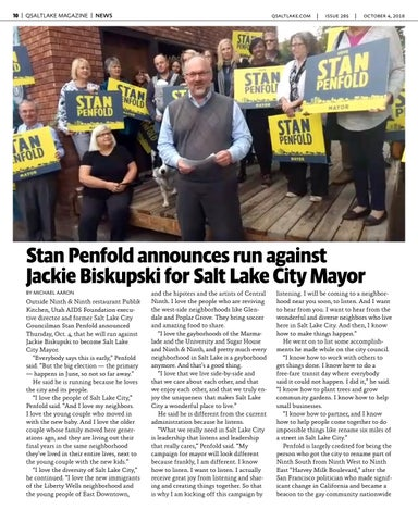 Page 10 of Stan Penfold announces run against  Jackie Biskupski for Salt Lake City Mayor