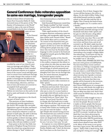 Page 14 of General Conference: Oaks reiterates opposition to same-sex marriage, transgender people