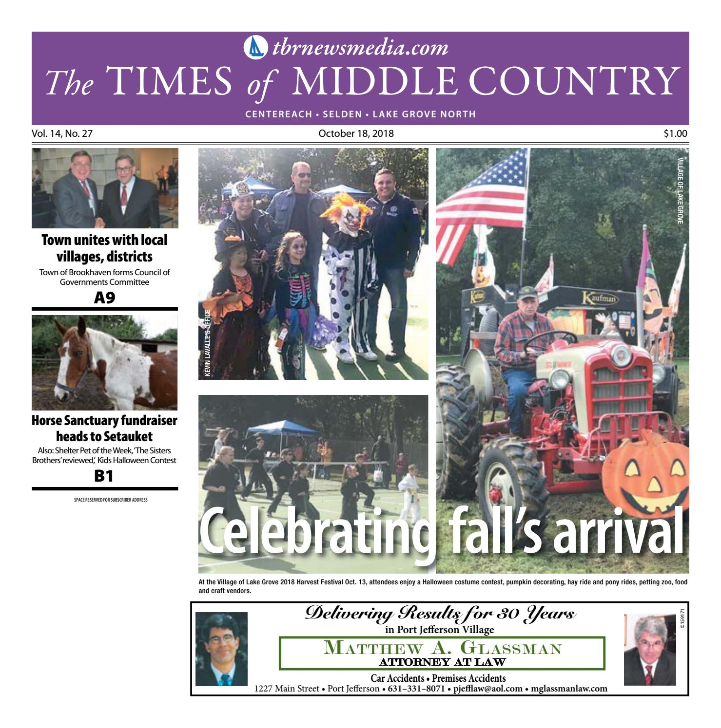 The Times of Middle Country October 18 2018 by TBR News Media issuu