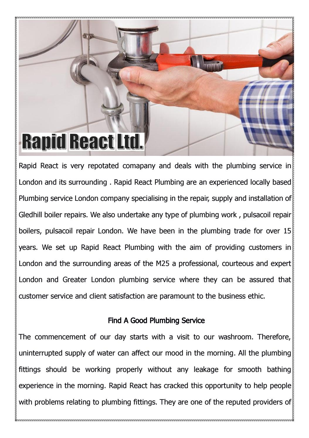 Plumbing Service London by Rapid React - issuu