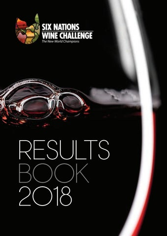 Six Nations Wine Challenge 2018 Results Book by Ross