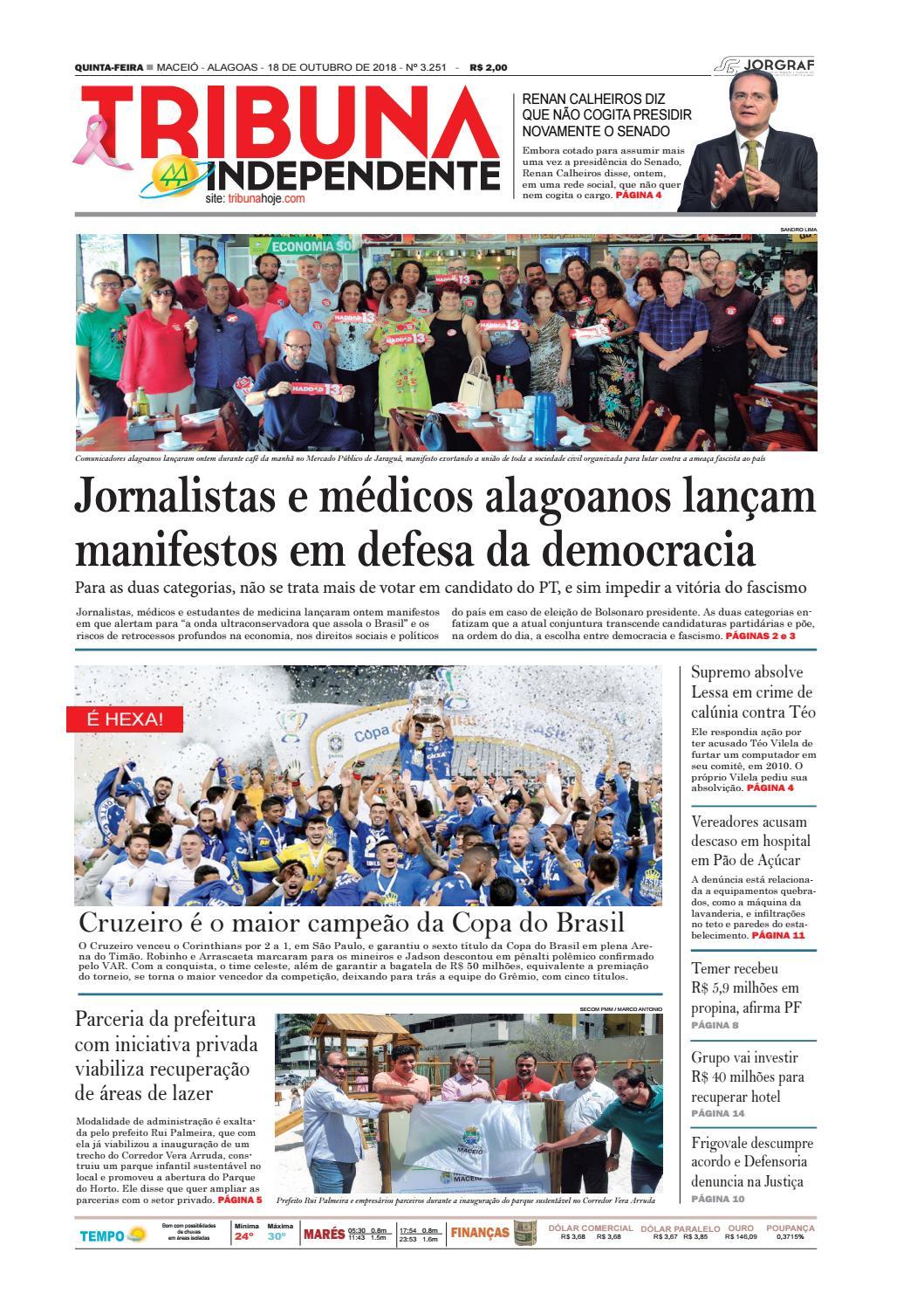 998b54f89f1a2 Edição número 3251 - 18 de outubro de 2018 by Tribuna Hoje - issuu