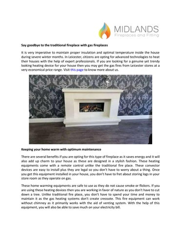 Say Goodbye To The Traditional Fireplace With Gas Fireplaces By