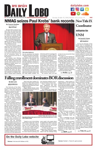 Daily Lobo 10/18/18 by UNM Student Publications - issuu