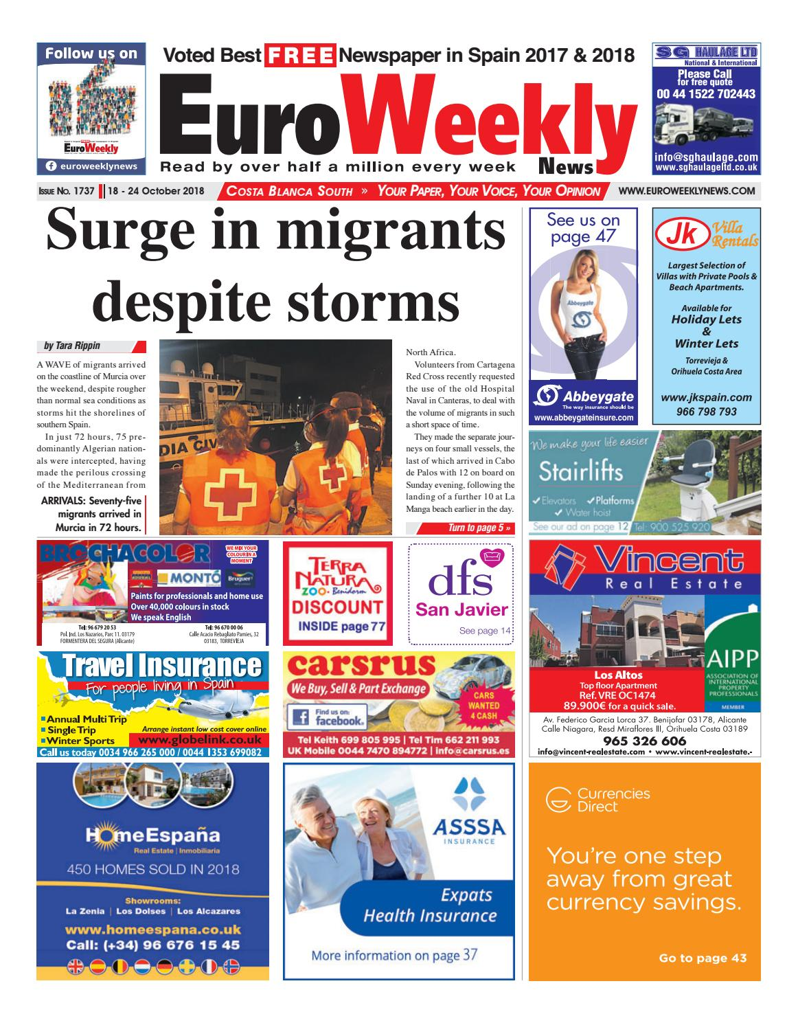 723071f24187 Euro Weekly News - Costa Blanca South October 18 - 24 2018 Issue 1737 by  Euro Weekly News Media S.A. - issuu