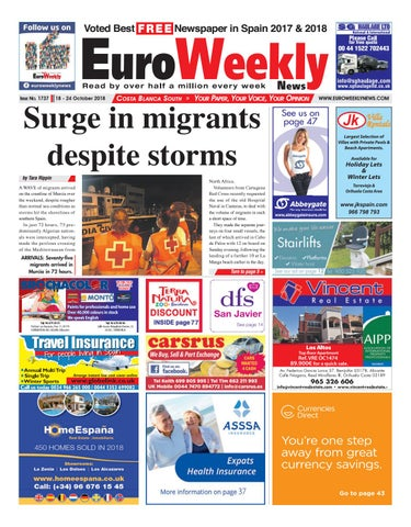 Euro Weekly News Costa Blanca South October 18 24 2018 Issue