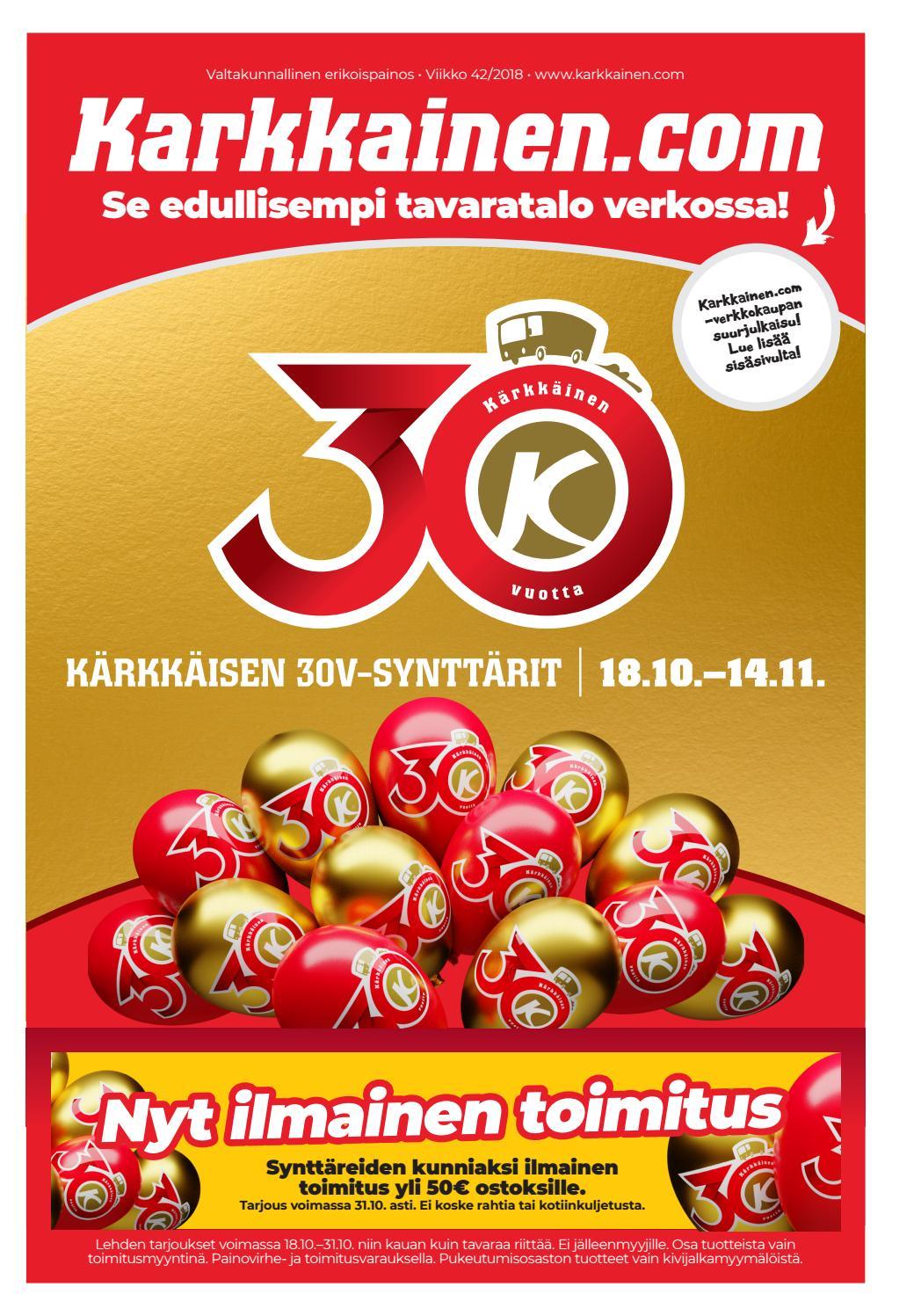 buy online 98b96 a39fa Kärkkäisen mainos (42 2018) (K-S) by Tavaratalo J. Kärkkäinen Oy - issuu