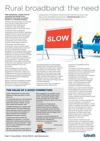 Page 6 of Rural Scotland's long wait for fast broadband