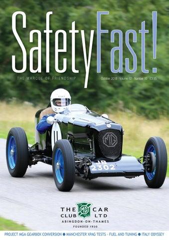 Safety Fast October 2018 By Mg Car Club Issuu