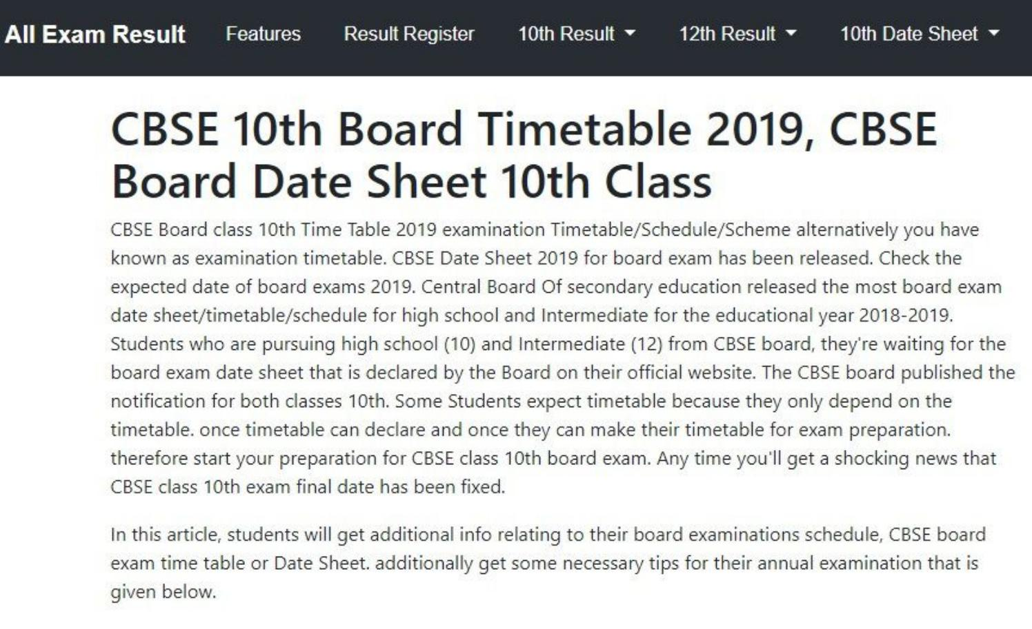 result of 10th class 2019 cbse