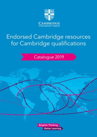 CAIE Catalogue 2019 by Cambridge University Press Education