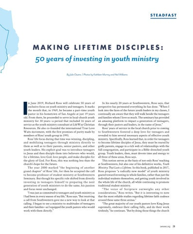 Page 31 of Making Lifetime Disciples: 50 years of investing in youth ministry