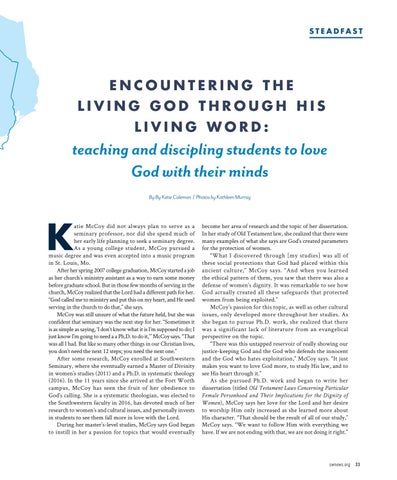 Page 35 of Encountering The Living God Through His Word: teaching and discipling students to love God with their minds