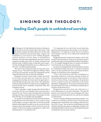 Page 43 of Singing Our Theology: leading God's people in unhindered worship