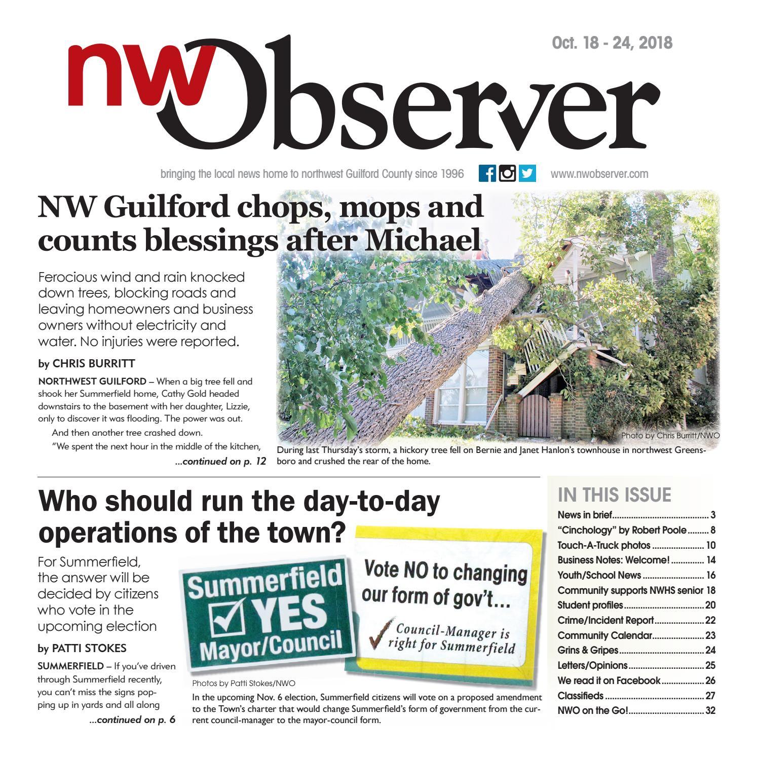 Northwest Observer I October 18 - October 24, 2018 by