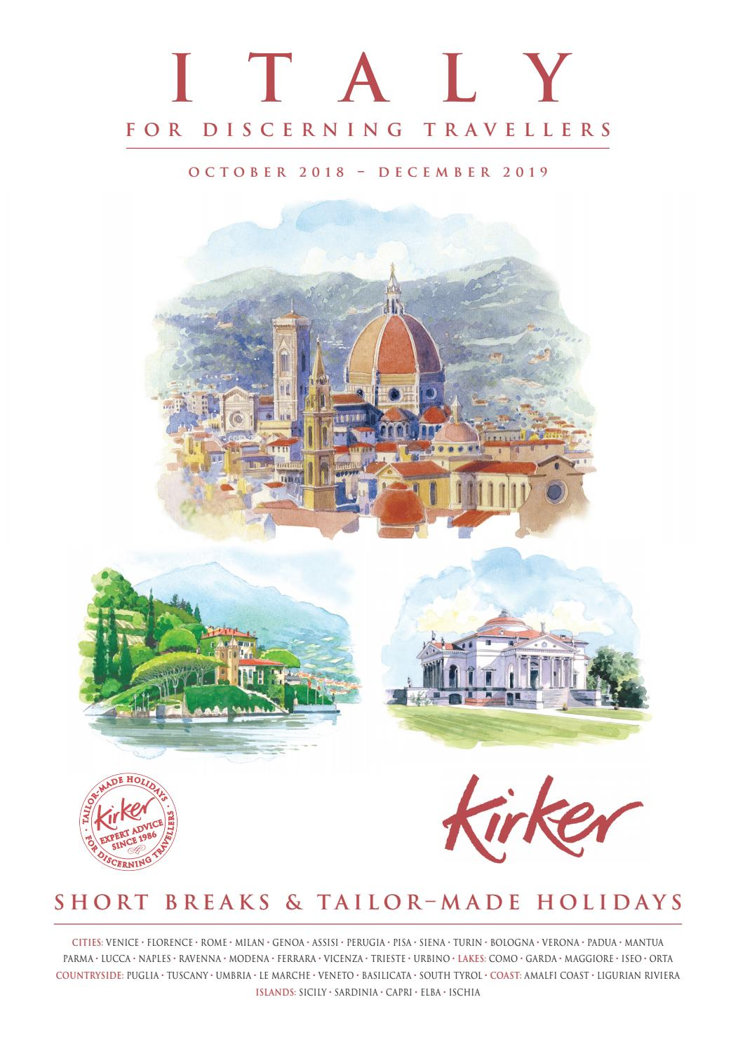 Italy For Discerning Travellers 2019 Kirker Holidays By