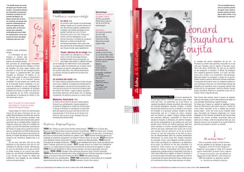 fea3c720ebe La Lettre de la bibliothèque n°58   Léonard Tsuguharu Foujita by ...