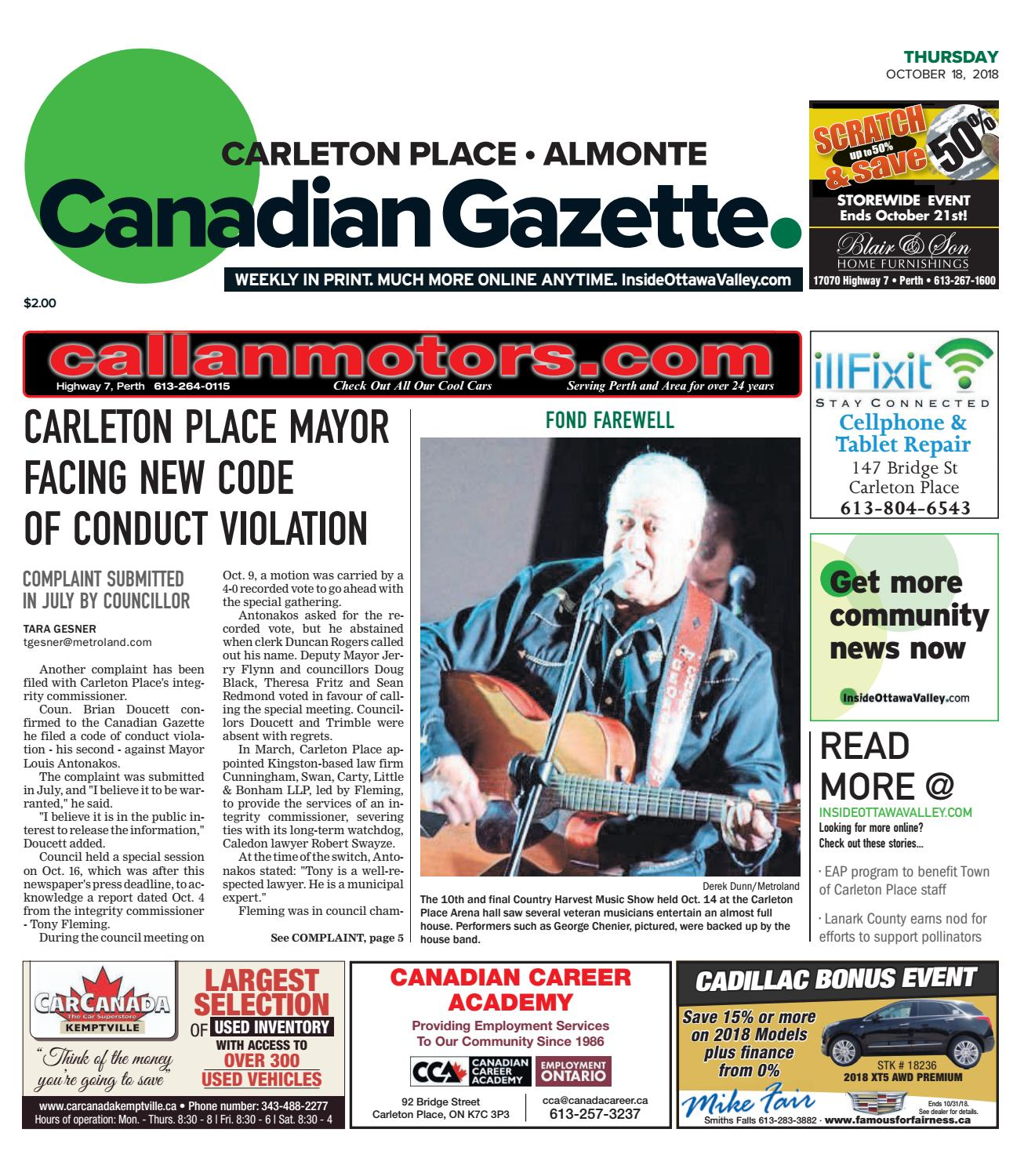 Otv C A 20181018 By Metroland East Almonte Carleton Place Canadian The Single Large Doublesided Circuit Board From Canon Canola Gazette Issuu