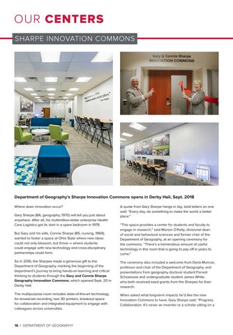 Page 16 of Our Centers: Sharpe Innovation Commons