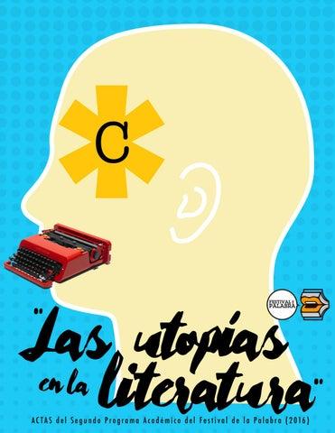 """Las utopías en la literatura""""  Actas del Segundo Programa Académico ... 358ace9c9cf"""