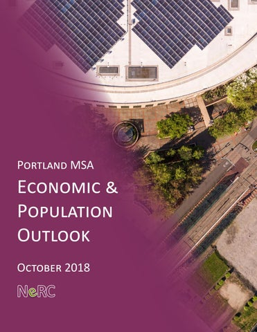 Northwest Economic Research Center October 2018 Economic and