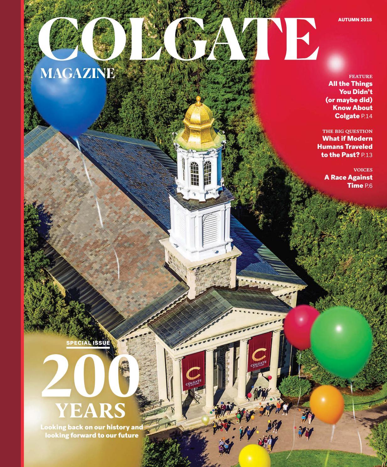 76cc92abe40 Colgate Magazine — Autumn 2018 by Colgate University - issuu