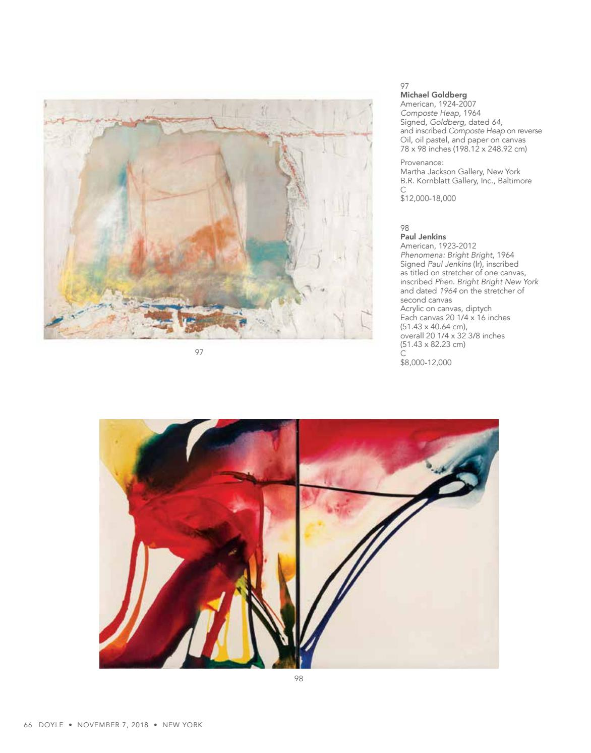 Impressionist & Modern Art / Post-War & Contemporary Art 11 7 18 by