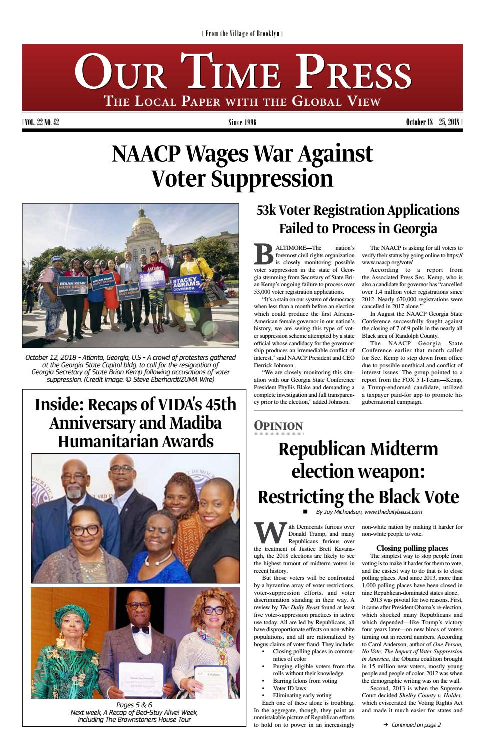 7acf596af61 Our Time Press - Week of October 18, 2018 by Our Time Press - issuu