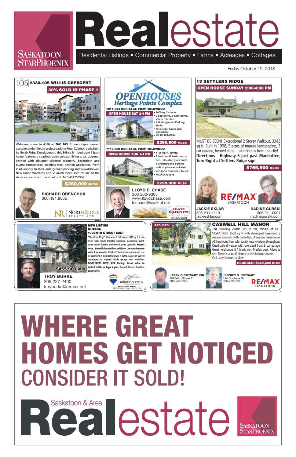 saskatoon real estate guide oct 19 2018 by postmedia rh issuu com