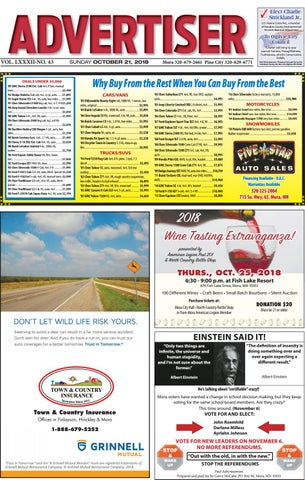 Mora Advertiser 102118 by Kanabec County Times/Pine City Pioneer - issuu