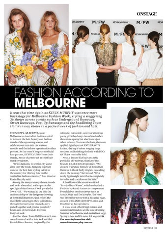 Page 33 of ONSTAGE: FASHION WEEK MELBOURNE