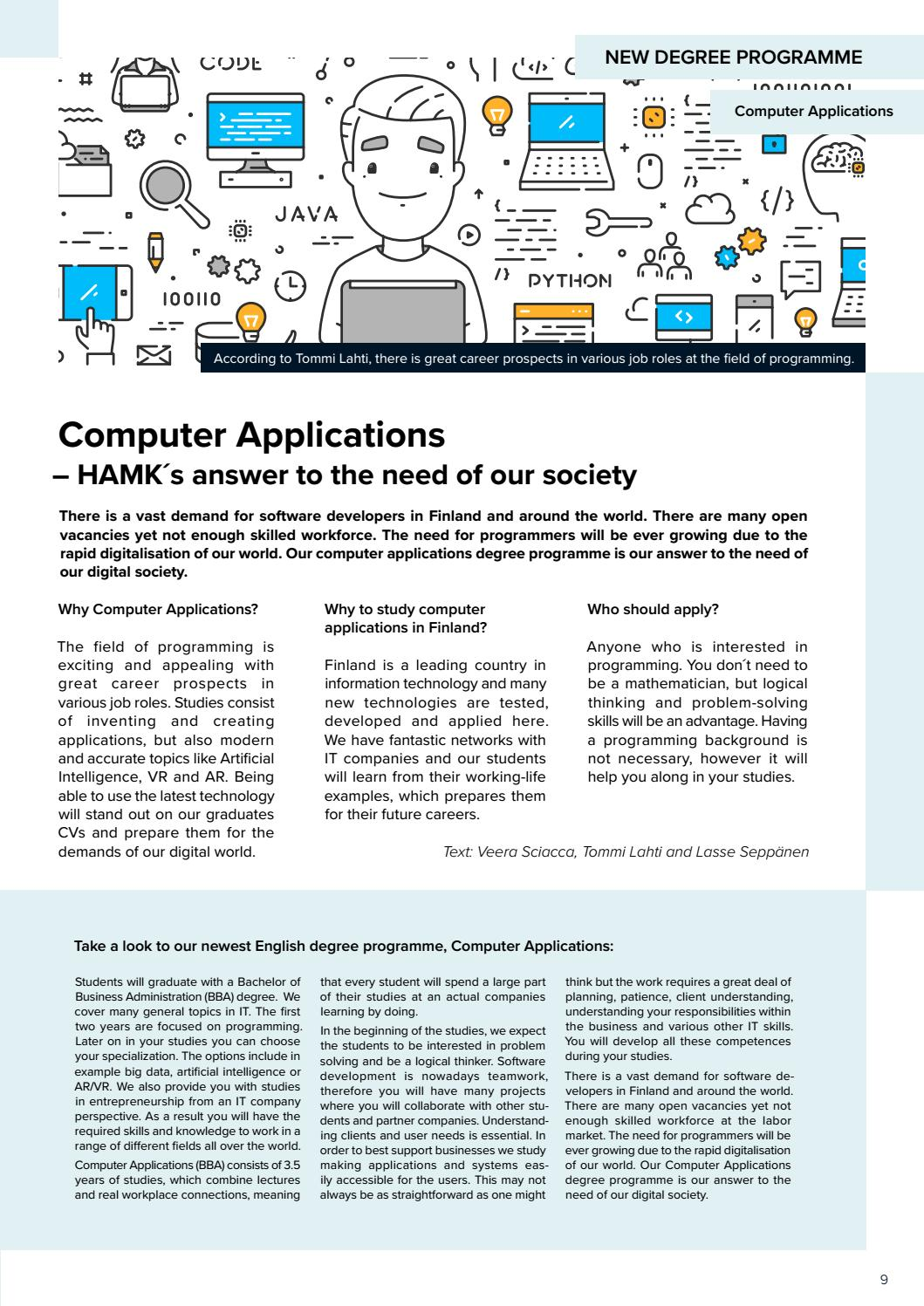 HAMK Stories International Edition 2019 by HAMK Häme University of