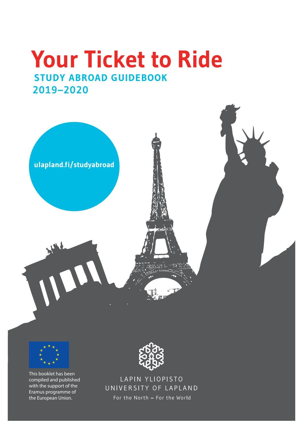 5fbaa443440 Your Ticket to Ride – Study Abroad Guidebook 2019-2020 by ULapland ...