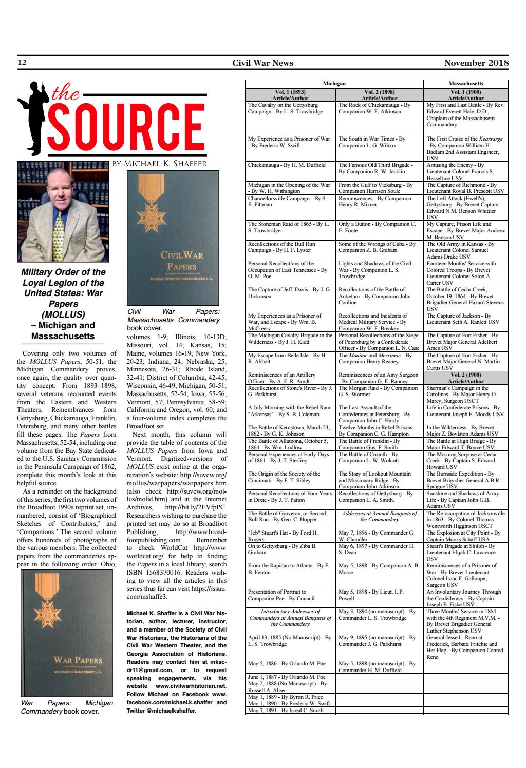 'The Source' November 2018