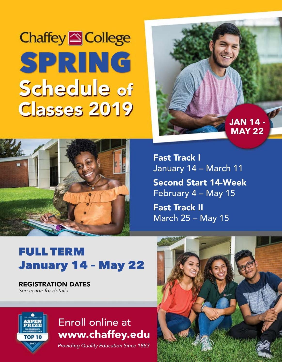 Spring 2019 Complete Schedule Of Classes By Chaffey College Issuu