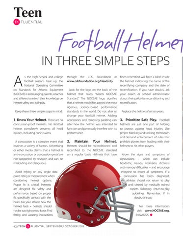 Page 400 of Football Helmet Safety in Three Simple Steps
