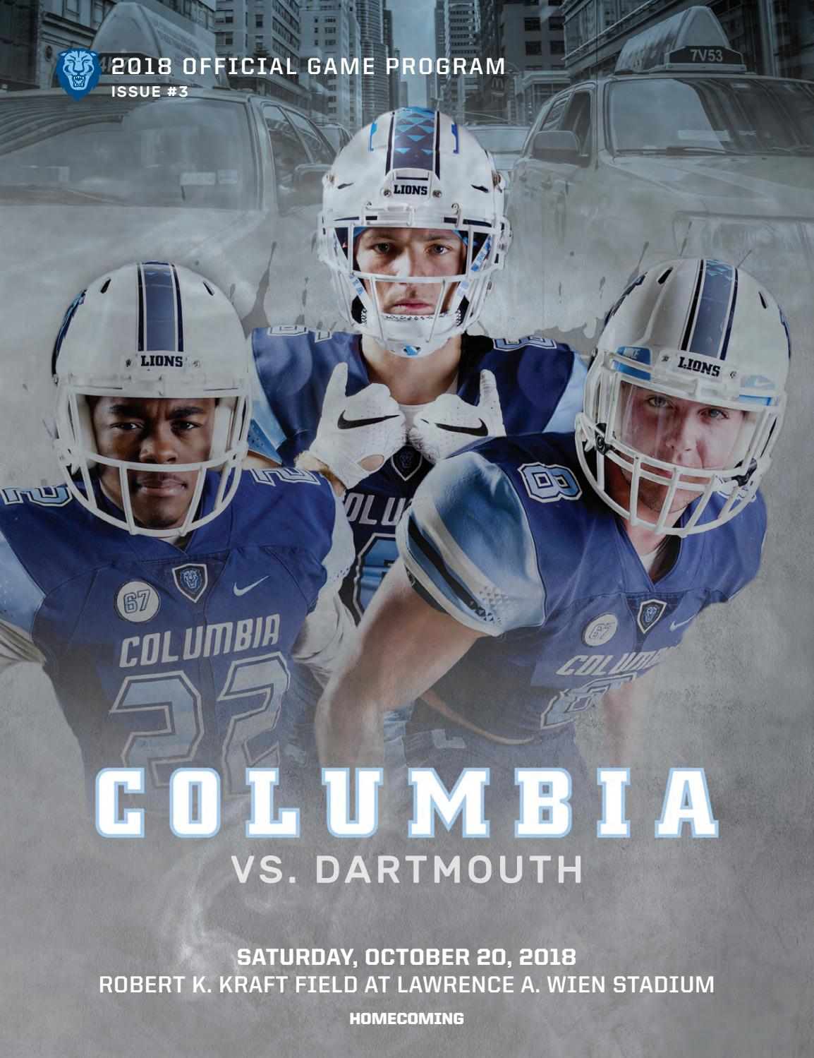 436c6fc363d Columbia Football Game Program (Oct. 20