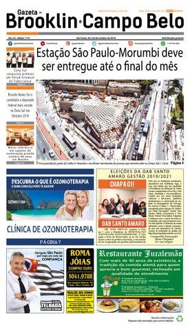 3a1d809cf1 GAZETA DO BROOKLIN- Edição 1172 - São Paulo, 20 a 26 de outubro de 2018