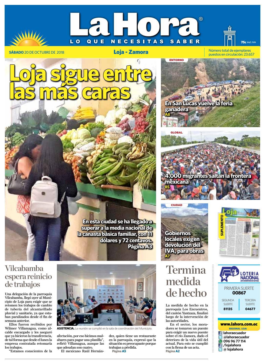 5a764dc8b Diario La Hora Loja 20 de Octubre 2018 by Diario La Hora Ecuador - issuu