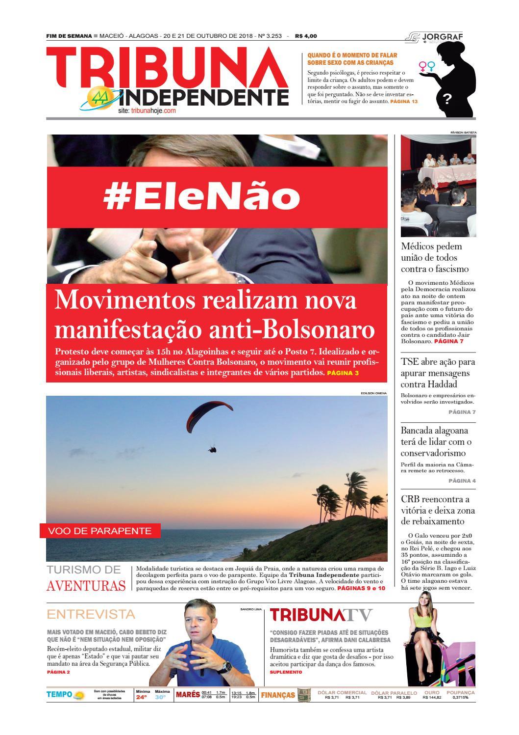 c8ca22a5b Edição número 3253 - 20 e 21 de outubro de 2018 by Tribuna Hoje - issuu