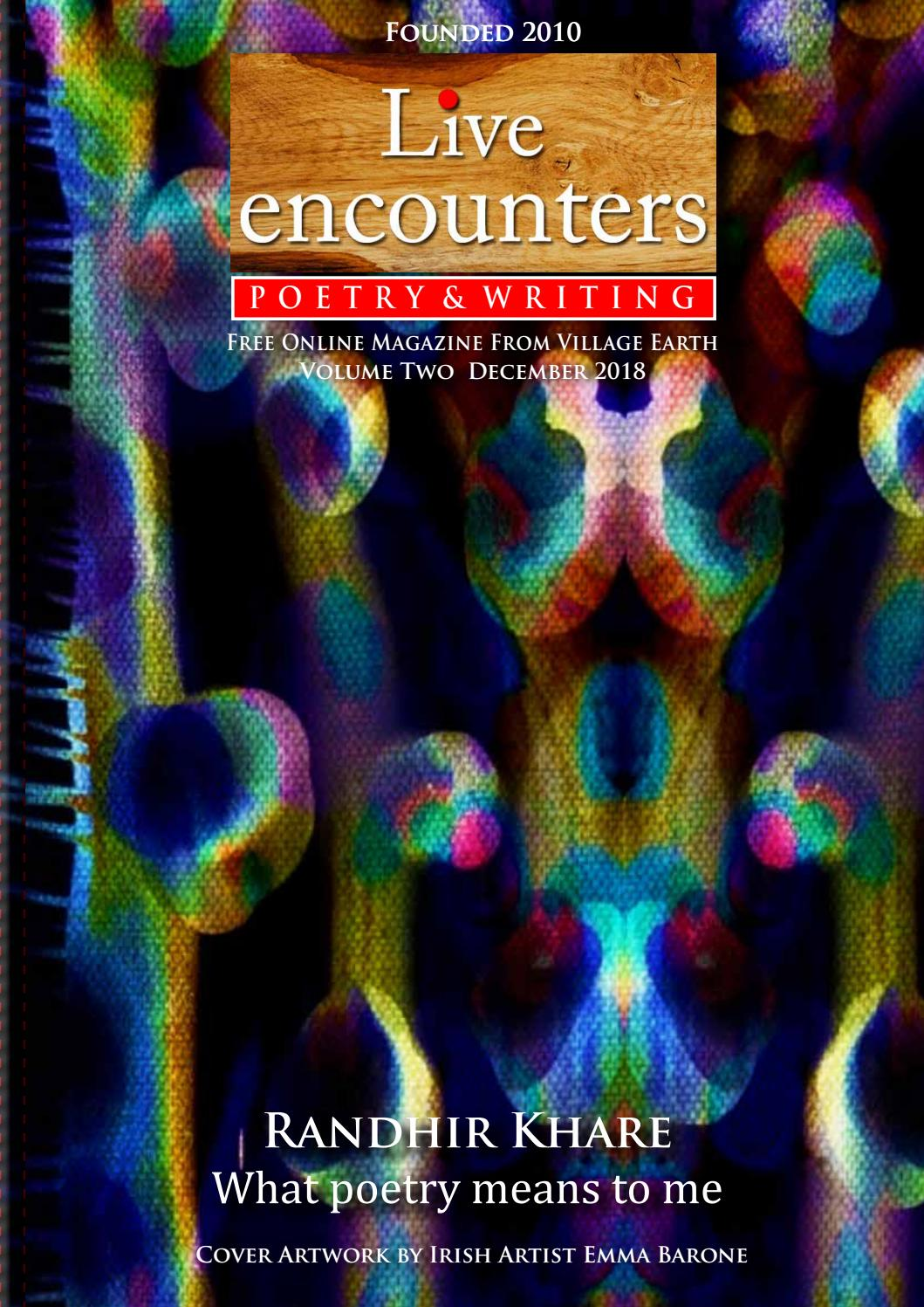 18fccbad8e Live Encounters Poetry   Writing Volume Two December 2018 by Live  Encounters - issuu