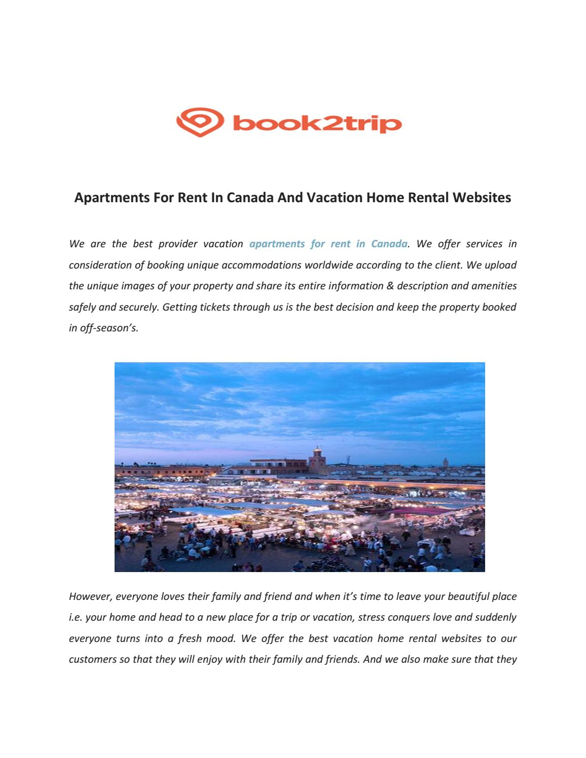 Book2trip:Book Vacation Rentals ,Apartments ,Villa & More No