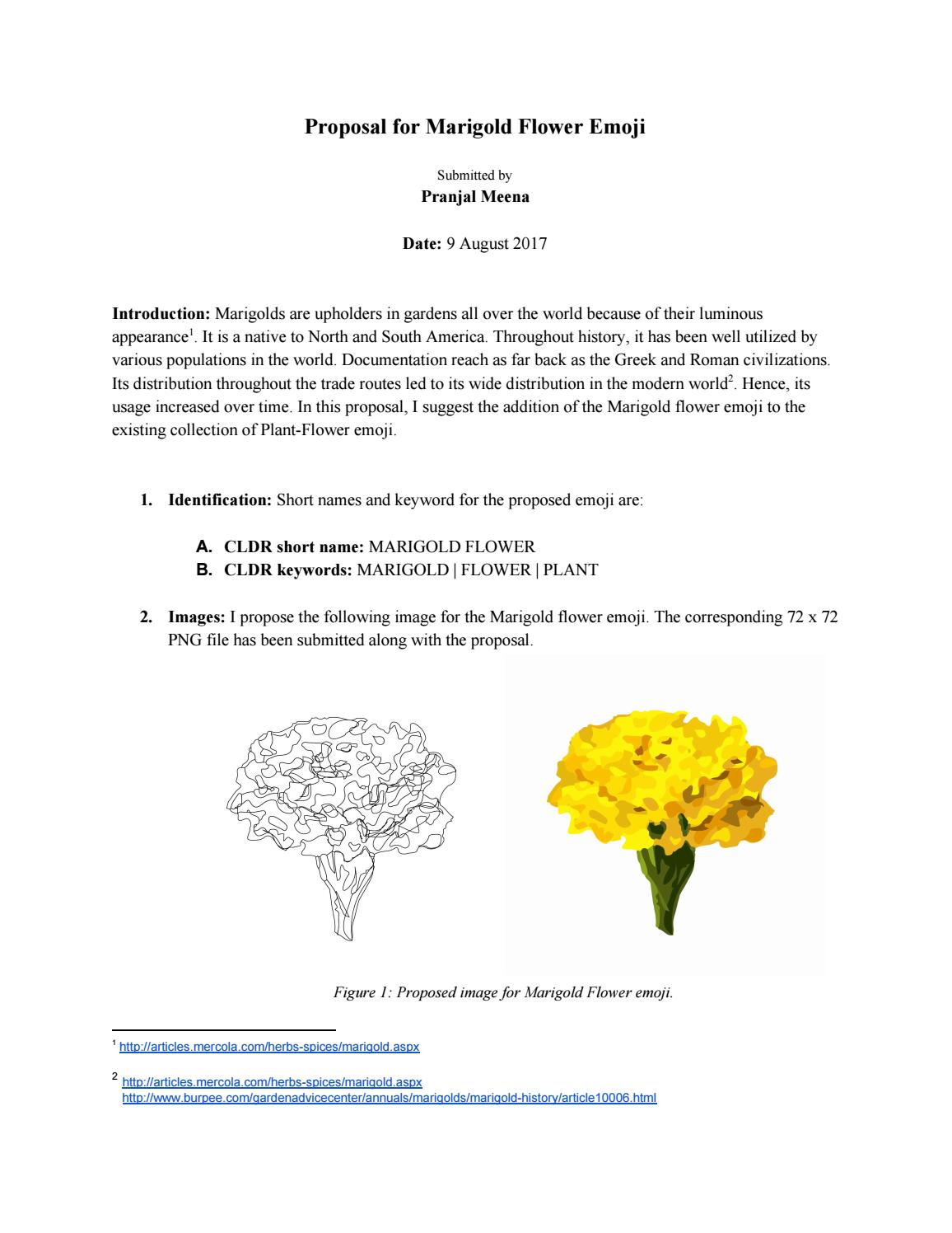 Proposal for Marigold Emoji by Pranjal Meena - issuu