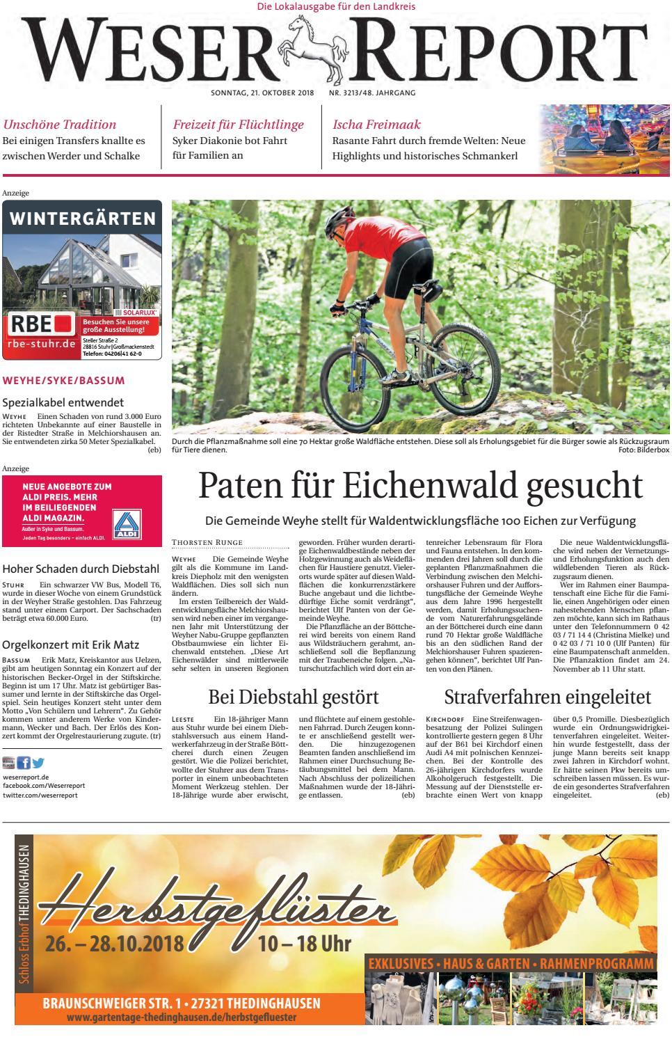 Weser Report - Weyhe, Syke, Bassum vom 21.10.2018 by KPS ...