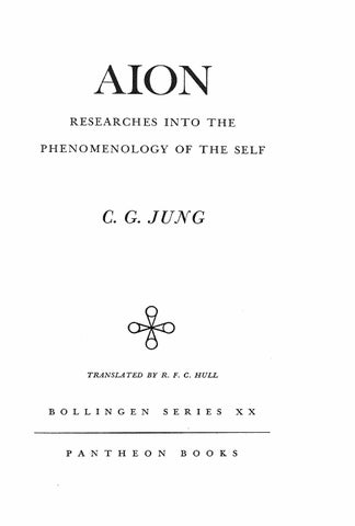 Aion Researches Into The Phenomenology Of The Self Carl