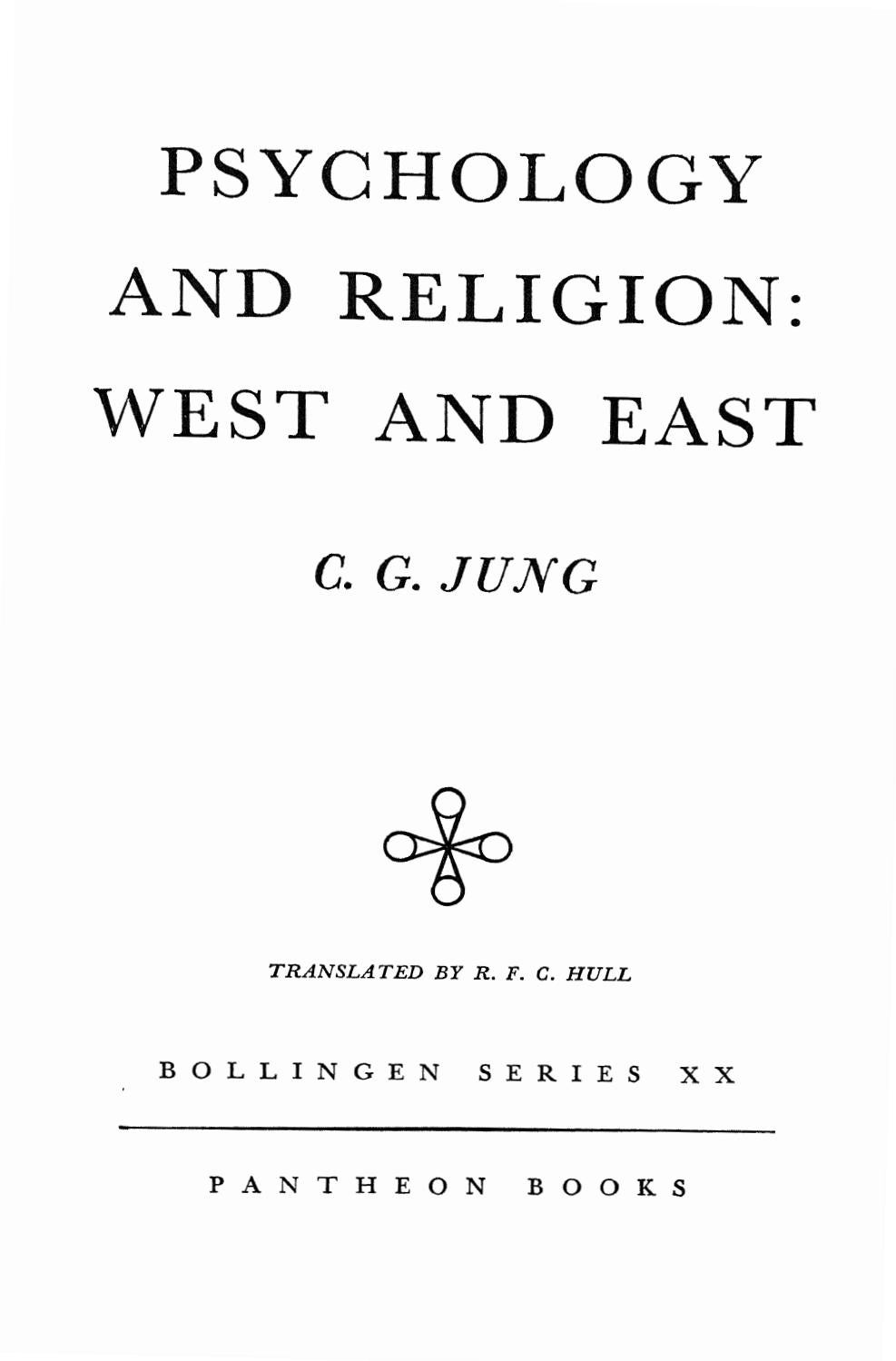 Psychology and Religion West and East Carl Jung CW11 Part1
